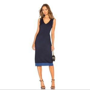 Rag & Bone Cora Midi Dress in Navy & Blue